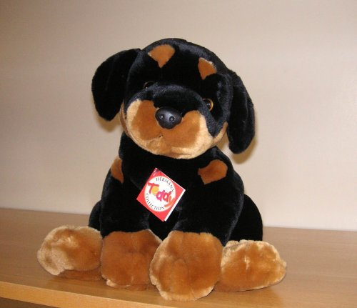 HERMAN TEDDY BEAR DOG ROTTWEILER 26 CM (JAPAN IMPORT)