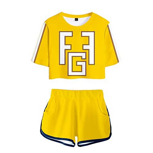 Schule Kostüm Einheitliche Mädchen - Zounghy Damen Outfit Set Cosplay Kostüm Anime Wissenschaft Schule Sport einheitliche Kurze Ärmel-Top Shorts für Mädchen Geschenk.