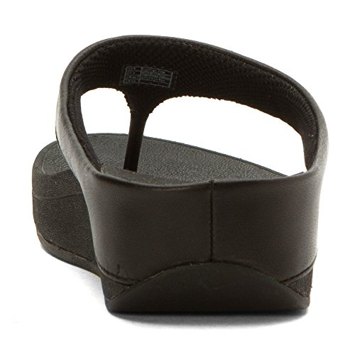 Sandales De Toe-post De Sonnerie FitFlop Tout Noir All-black