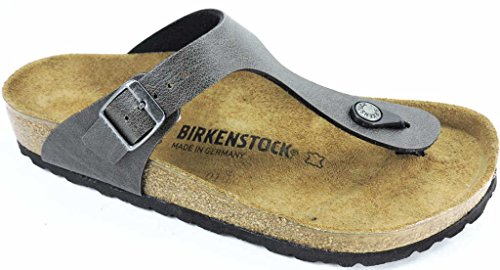 Birkenstock 1005029, Infradito donna marrone Pull Up Brown, grigio (Pull UP Anthracite), 36 EU