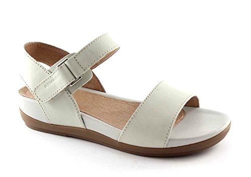 STONEFLY 104480 ice ghiaccio scarpe donna sandali bassi zeppa strappo 38