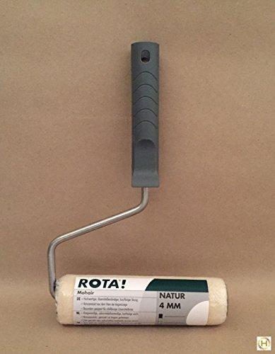 ROTA! Mohair Roller 18 cm, Florhöhe: 4 mm, Bügel 8 mm, Farb- & Klarlacke -