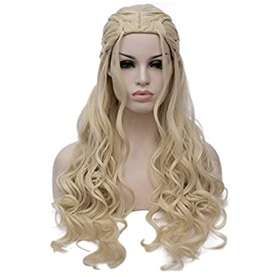 Amback New Style Long Curly Braid Cosplay Wig for Game of Thrones Daenerys