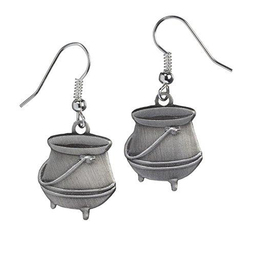 Offizielle Silber überzogene Potion Cauldron Ohrringe