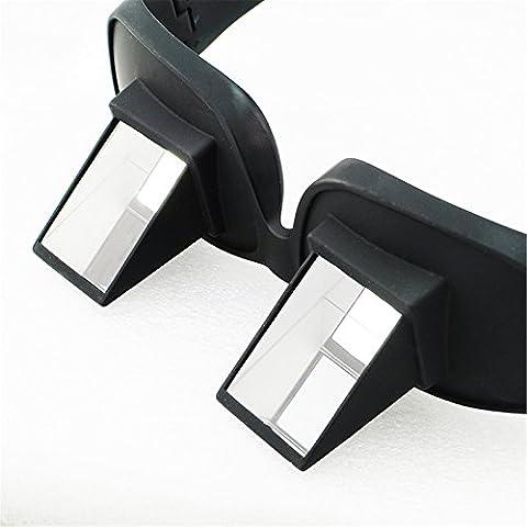SODIAL (R) Occhiali pigro Sdraiato Leggere a letto a guardare orizzontale del prisma ad angolo