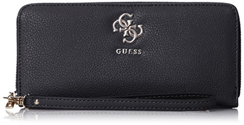 Guess Damen SLG Wallet Geldbörse, Schwarz (Black), 2x10x21 Centimeters