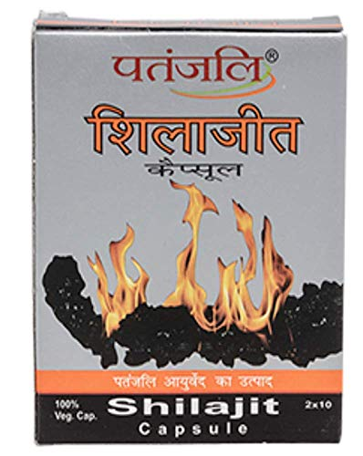 "Patanjali"" Shilajit Capsule for Strength and Energy"