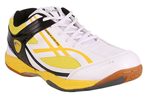 PROASE White Yellow Badminton Shoe - 7UK
