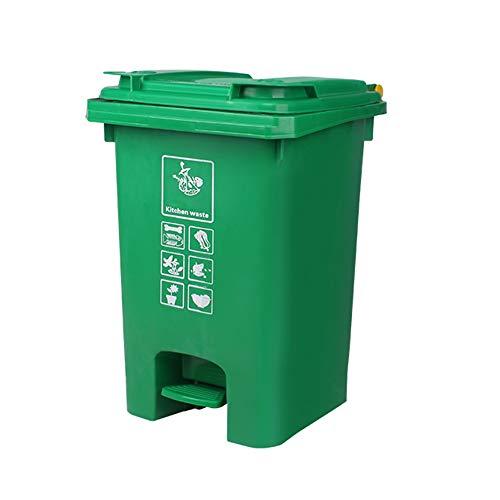 DEI QI 60L Bote basura aire libre tapa Pedales Contenedores