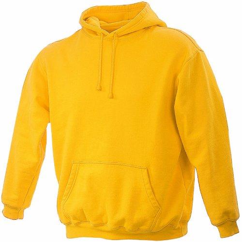 James & Nicholson Unisex Kapuzenpullover Sweatshirt Hooded Sweat Gelb (gold-yellow)