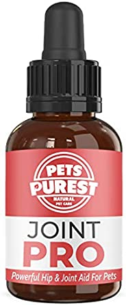 Pets Purest 100% Natural Joint Aid For Dogs, Cats & Pets. Powerful Hip & Joint Care Supplement. Mainta