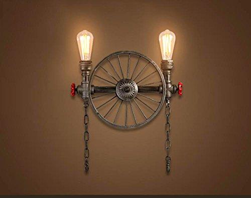 Nero Retro industriale in ferro battuto Wall Sconce alta qualità Vintage Lampada da parete Fit (Legno Della Struttura Del Soffitto Apparecchio Apparecchio)