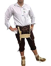 Trachtenlederhosen Trachtenhosen Hosen Herren Trachten Lederhosen Echt Leder Business Freizeit Wandern Hochzeit Braun