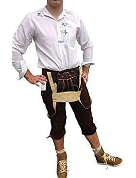 Trachtenlederhose Herren Echt Leder Braun Lederhose 56