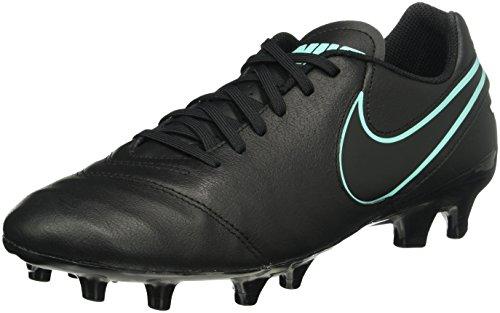 Nike Herren Tiempo Genio Ii Leather Fg Fußballschuhe, Schwarz (Black/Black), 44.5