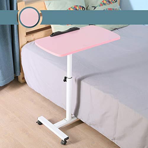 Scrivania per laptop rolling tavolino servitore per pazienti allettati carrello con inclinazione,vassoio tavolino carrello da scrivania portatile in altezza regolabile, piedistallo del computer -b