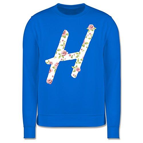 Anfangsbuchstaben - H Rosen - Herren Premium Pullover Himmelblau