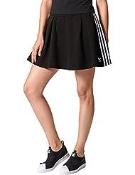 adidas 3 STR Falda de Tenis, Mujer, Negro, 36