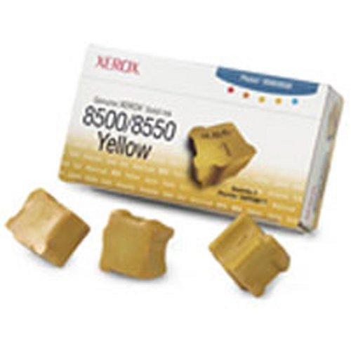 Xerox 108R00671 Phaser 8500, 8550 colorstix Standardkapazität 3 x 1.000 Seiten 3er-Pack, gelb -