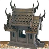 GEISTERHAUS BUDDHA TEAKHOLZ ASIEN MÖBEL CHINA THAILAND NEU 26 CM '01