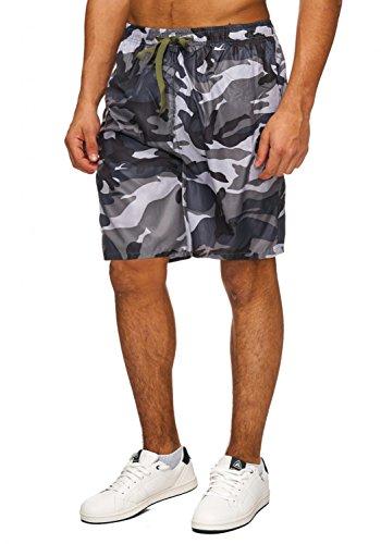 Herren Shorts · Badehose in Camouflage Military Muster · H1883 von Max Men (Shorts Militär)