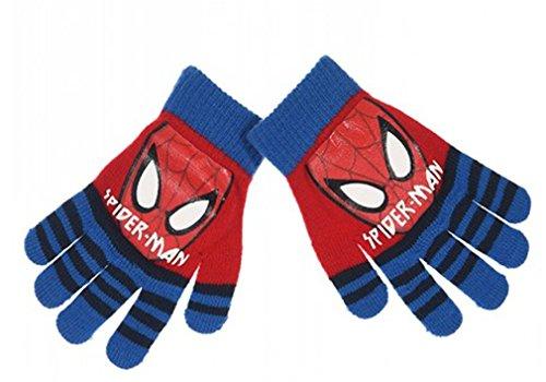 strisce-guanti-grigio-bambino-ragazzo-spider-man-nero-e-blu-taglia-unica-3-8-anni-blu-blu-taglia-uni