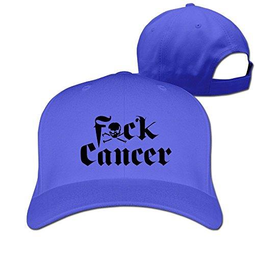 Yesher gracioso Fuck cáncer calavera Logo Gorra de béisbol–Gorra ajustable, color negro