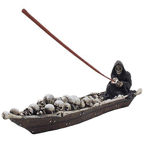 Home-n-Gifts Scary Sensenmann in Angeln Boot von Skeletten, die Halloween Dekorationen (Dekoration Sensenmann Halloween)