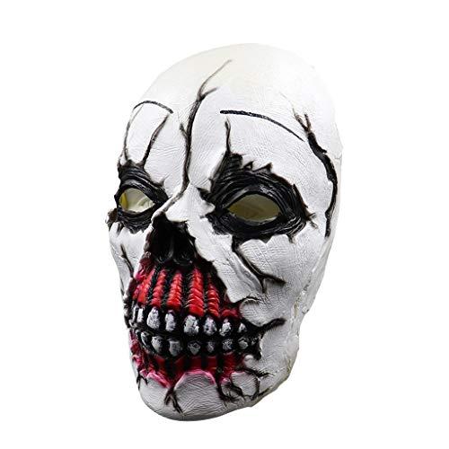 mon Horror grusel Maske - perfekt für Fasching, Karneval & Halloween - Kostüm für Erwachsene - Latex, Unisex Einheitsgröße ()