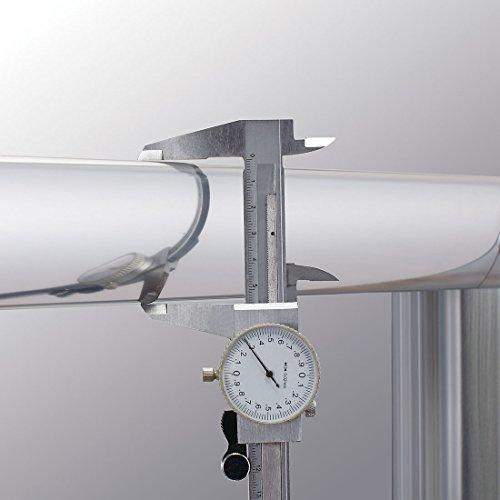 Schiebetür – Duschabtrennung mit Glas links und rechts - 7