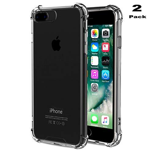 iPhone 7Plus Fall ibarbe Klar Kissen stoßabsorbierendem TPU Bumper Fall Flexibel Slim Anti-Slippery Kratzfest Fortschrittliche Gel-Bumper für iPhone 7Plus Dual-slot Desktop Charger