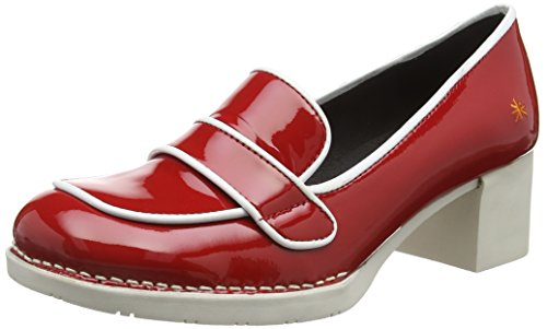 Art BRISTOL LOAFER SHOE, Chaussures à talons  femme Rouge - Red (CHARCOAL Red)