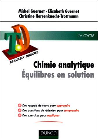 TD de chimie analytique