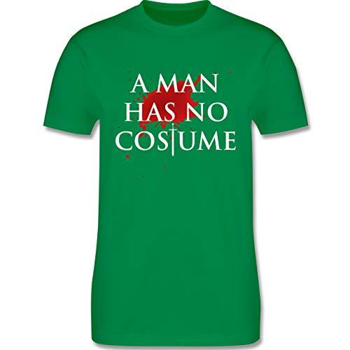 Karneval & Fasching - A Man Has No Costume Kostüm - M - Grün - L190 - Herren T-Shirt ()