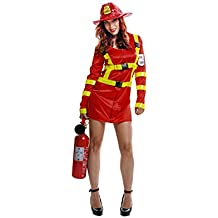 My Other Me Disfraz de bombera para mujer, M-L (Viving Costumes 200973)
