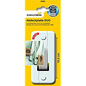 Schellenberg 53503 Abdeckplatte DUO Lochabstand 10,5 cm für Unterputz Gurtwickler, System Maxi: 23 mm Gurtbreite…