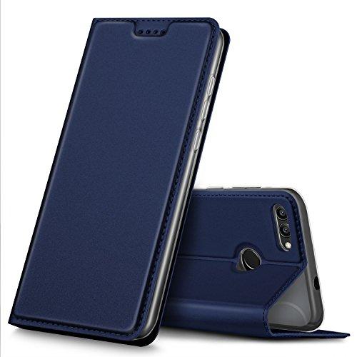 Coque Honor View 10, Coque Honor 9 pro, iBetter Honor View 10 Flip Coque Premium PU Housse [Protection Complète] Couverture Multicolor avec support design pour Huawei Honor View 10 / Honor 9 Pro Smartphone portable 5,99 pouces(Bleu)