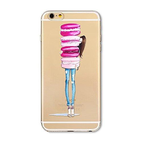 Coque iPhone 7 Plus Housse étui-Case Transparent Liquid Crystal en TPU Silicone Clair,Protection Ultra Mince Premium,Coque Prime pour iPhone 7 Plus-Beignet et de la glace-style 11 4