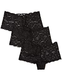 Amazon-Marke: Iris & Lilly Floral Lace Hipster, 3er Pack,