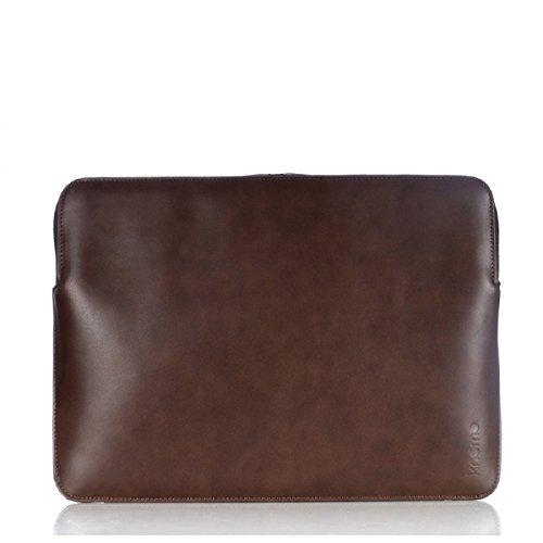 Knomo 45-100-BRN Barbican Notebook Sleeve 30,48 cm (12 Zoll) Leder braun