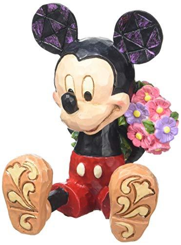 Enesco Disney Traditions Micky Maus mit Blumen fuer Minnie Maus, Stein, mehrfarbig, 5 x 5,5 x 7 cm -