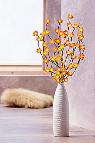 Unbekannt Design Vase aus Keramik mit weißer Glasur 40 cm hoch Dekoration Wohnzimmer NEU -