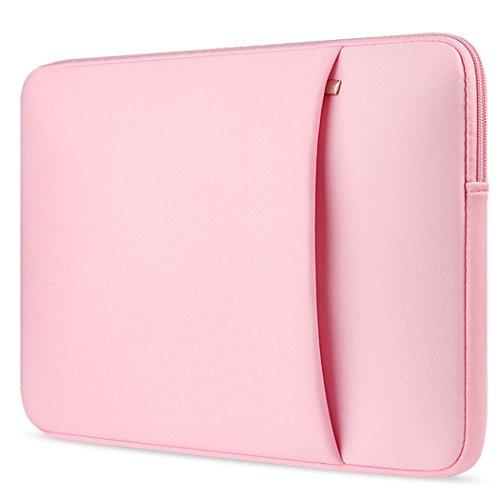 Ivencase® 13-13.3 Zoll weiches Neopren Hülle Sleeve Laptoptasche, Schutzhülle Tasche mit dem Reißverschluss für 13 Zoll MacBook Air / Pro / Pro Retina und 13-13,3 Zoll Laptop / Notebook Computer / Ultrabook - Rosa