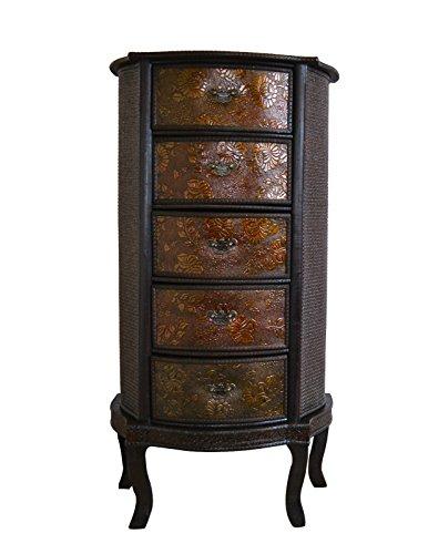 Chinesische Schublade Slim Stauraum Oriental Dunkles Holz Redwood Schlafzimmer Wohnzimmer -