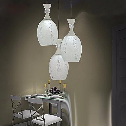 YanCui@ lampadari illuminazione domestica Lampadario in vetro di sala da pranzo minimalista moderno lampadario mobili sala da pranzo salotto LED