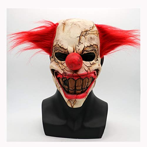 Masken Latex Kopf Maske, Scary faulen Gesicht Clown Maskerade Horror Zombie Ghost Gruselige Halloween Kostüm Party