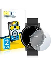 BROTECT Protector Pantalla Anti-Reflejos Compatible con Relojes (Circular, Diámetro: 50 mm) (2 Unidades) Pelicula Mate Anti-Huellas