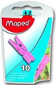 Helix Maped Usa Mini Pinces à Linge Clips assortis, acrylique, multicolore, 12pièces