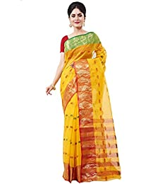 Slice Of Bengal Light Weight Cotton Handloom Taant Tangail Saree With Border101001001044