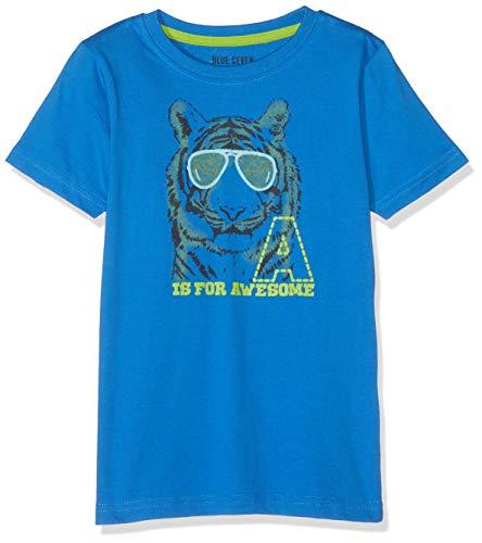 Blue Seven Jungen T-Shirt, Rundhals T-Shirt, per Pack Blau (Ocean 531), 104 (Herstellergröße: 104)
